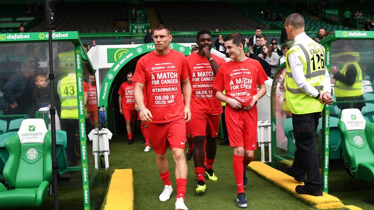 James Milner helped organise the charity match