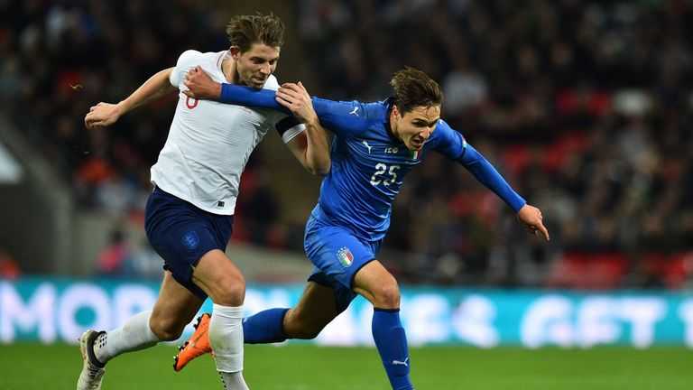 Tarkowski gave away a penalty following a VAR review during his international debut against Italy last season