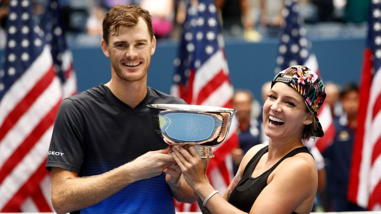 Jamie Murray and Bethanie Mattek-Sands won the mixed doubles at the US Open last year