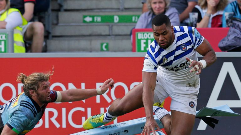 Joe Cokanasiga's athletic finish for one of his two tries