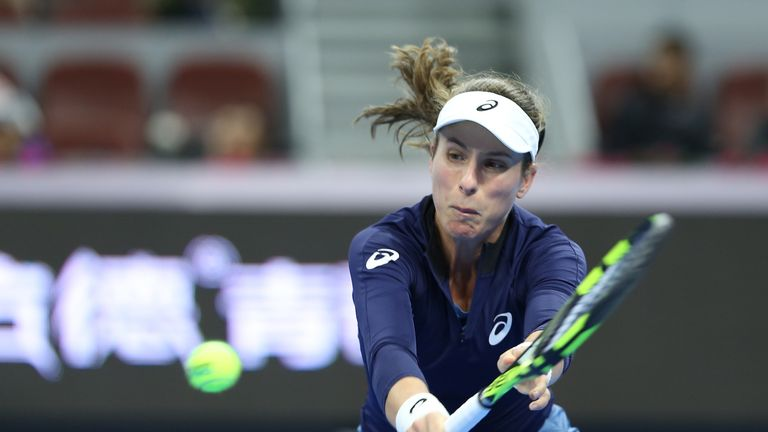 Johanna Konta lost to Julia Goerges in straight sets in Beijing