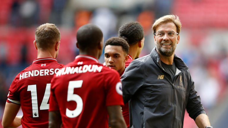 Jurgen Klopp has led Liverpool to five wins out of five in the Premier League this season