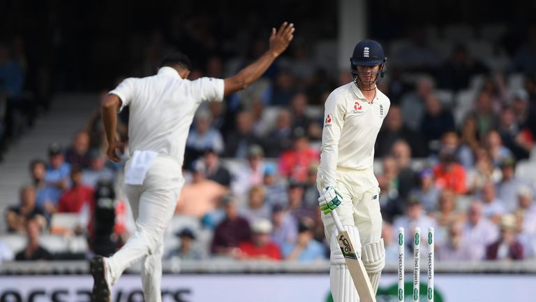 Keaton Jennings was bowled after misjudging a leave