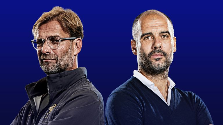 Jurgen Klopp and Pep Guardiola will meet at Anfield on Sunday