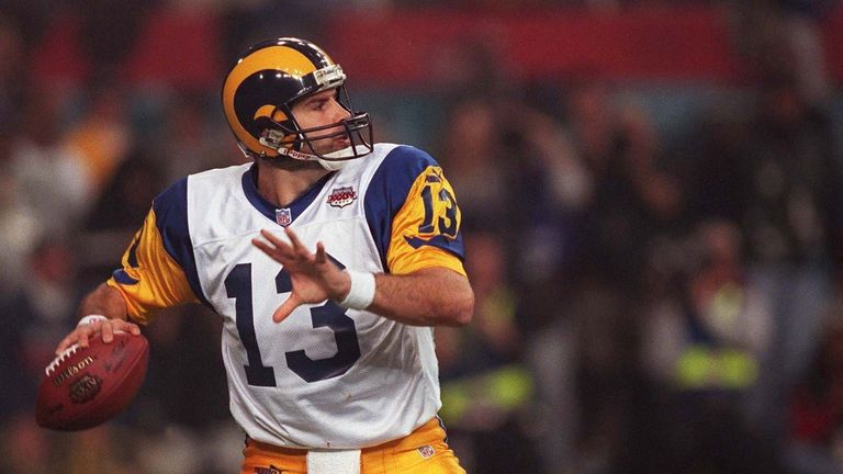Kurt Warner led 'The Greatest Show on Turf' Rams offense to Super Bowl success in the 1999 season