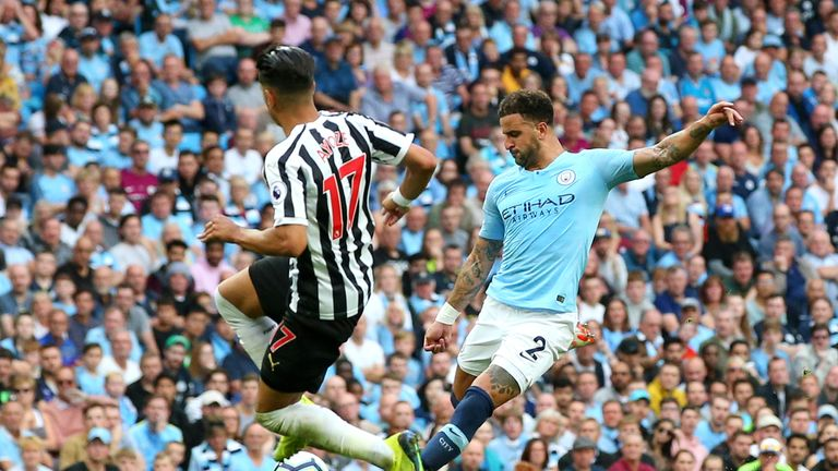 Kyle Walker's piledriver saw Man City edge past Newcastle