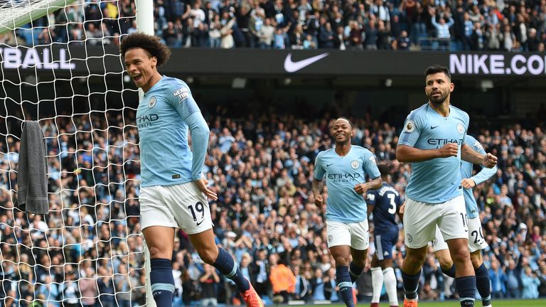 Sane was injured when City faced Cardiff last season