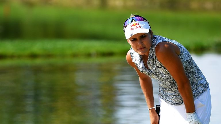 Lexi Thompson was in tears after she bogeyed the last two holes to miss the cut