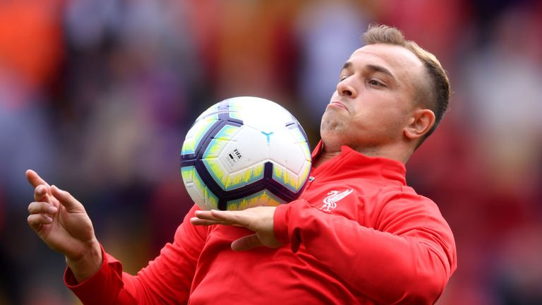 Xherden Shaqiri is yet to start for Liverpool since his summer move from Stoke
