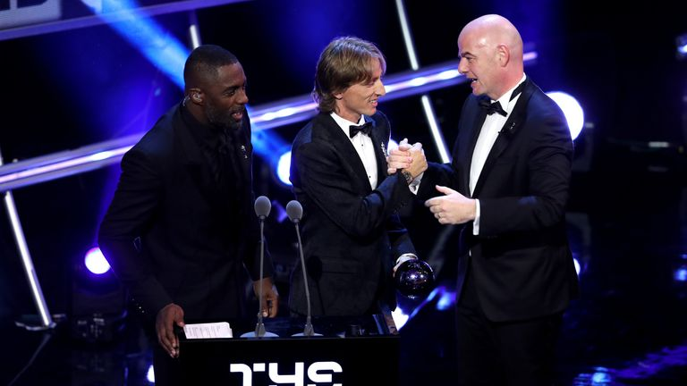 during the The Best FIFA Football Awards Show at Royal Festival Hall on September 24, 2018 in London, England.
