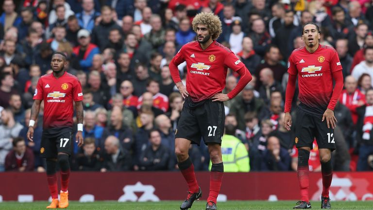 Manchester United are now eight points adrift of Premier League leaders Liverpool
