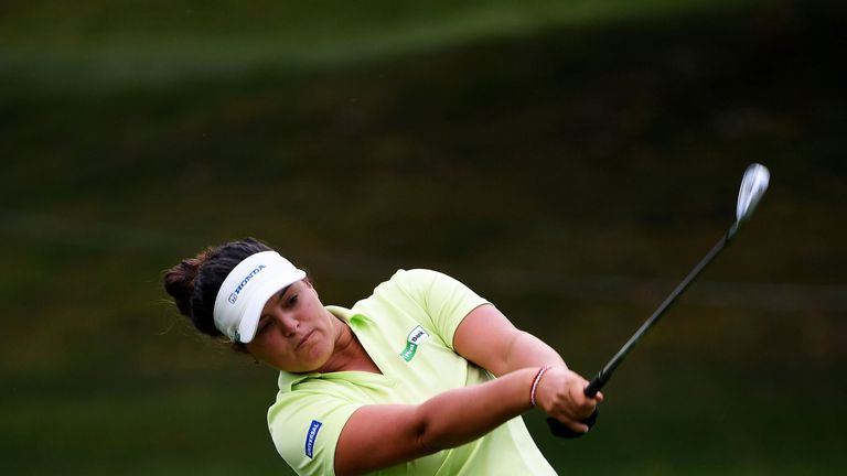 Maria Torres is one of four players tied for the lead