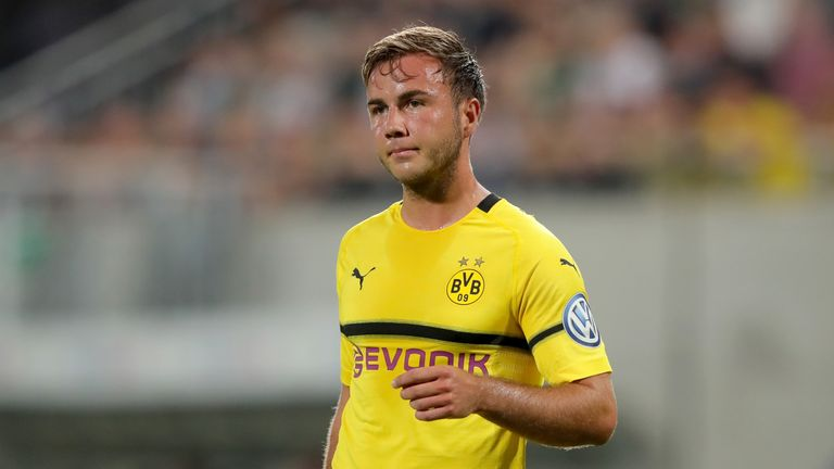Mario Gotze has made just two appearances for Borussia Dortmund this season