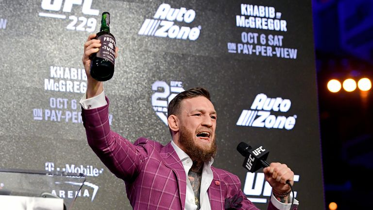 McGregor was swigging from his own-brand whiskey