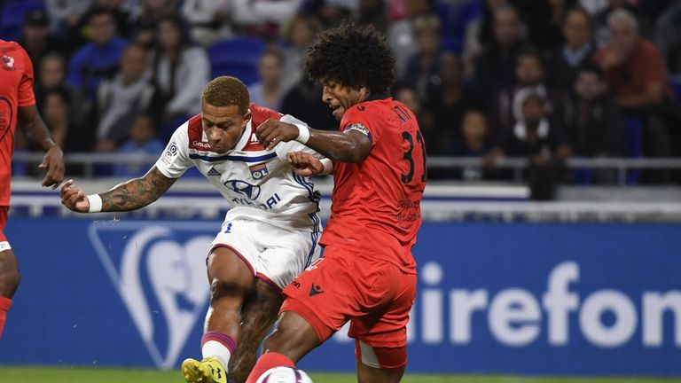 Memphis Depay has scored 25 league goals for Lyon since joining from Old Trafford