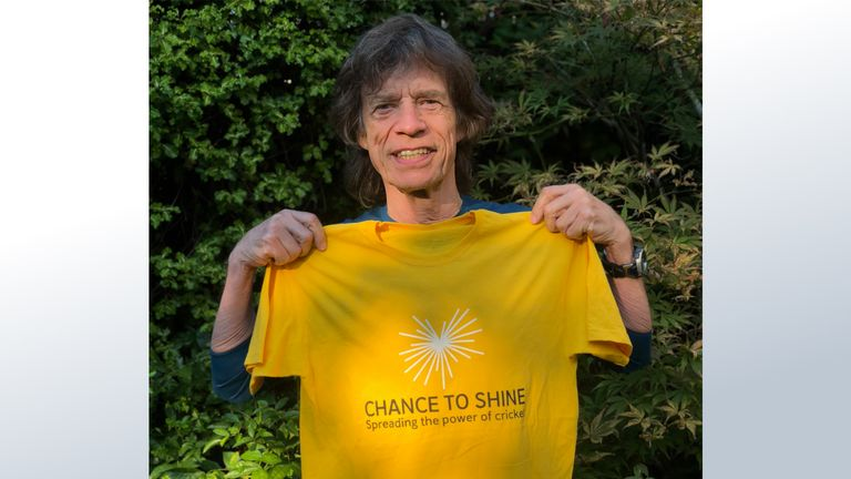 Rock and roll legend Mick Jagger has given his backing to national cricket charity Chance to Shine