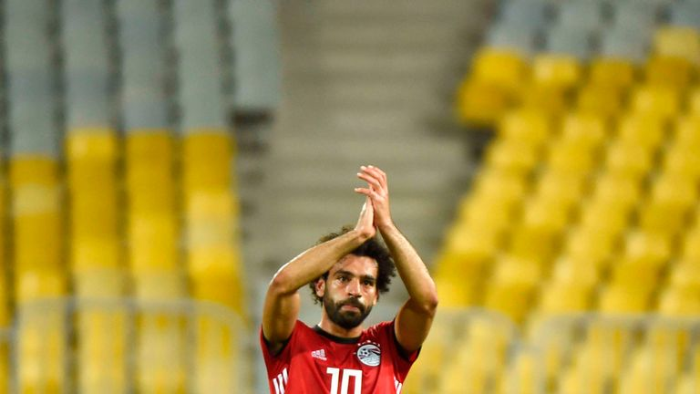 Salah scored his 38th international goal on the occasion of his 61st cap