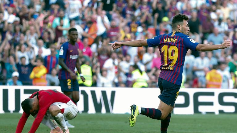Munir levelled up for Barcelona to avert a rare home defeat