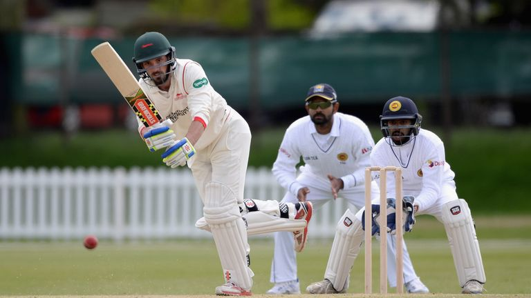 Ned Eckersley was dismissed for eight as Ryan Higgins finished with four wickets for Gloucestershire