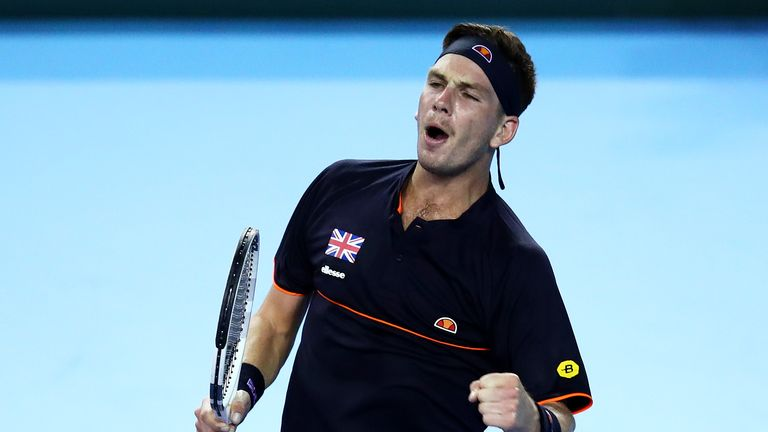 Cameron Norrie eased to his first home victory in the Davis Cup