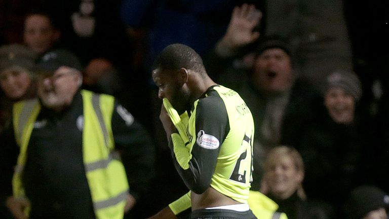 Celtic's Olivier Ntcham reacts after being sent off