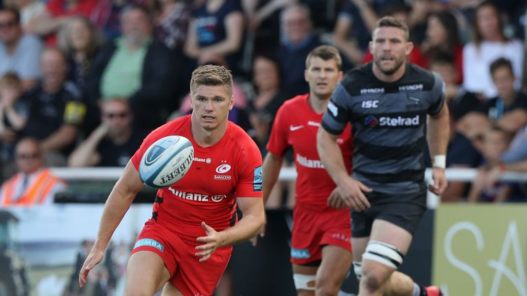 Owen Farrell will be back in Saracens action against Cardiff Blues on Sunday