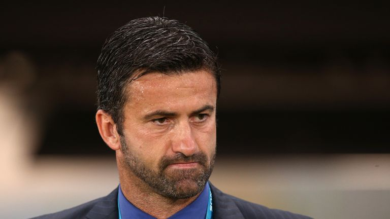 Albania coach Christian Panucci scored a late winner for Italy at Hampden Park to knock out Scotland from the European Qualifiers in 2007