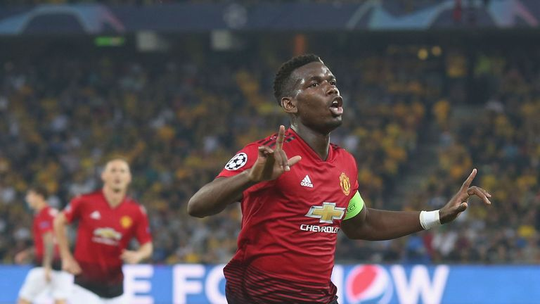 Paul Pogba was on superb form for Man Utd in Switzerland