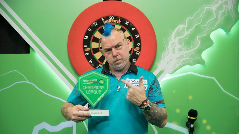 Peter Wright came from 8-5 down to defeat Michael van Gerwen 11-9 in the semi-finals (Picture courtesy of Lawrence Lustig/PDC)