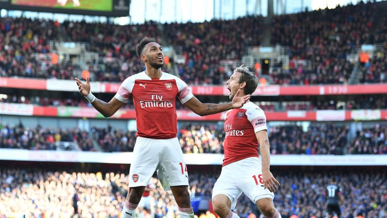 Pierre-Emerick Aubameyang put Arsenal 2-0 up