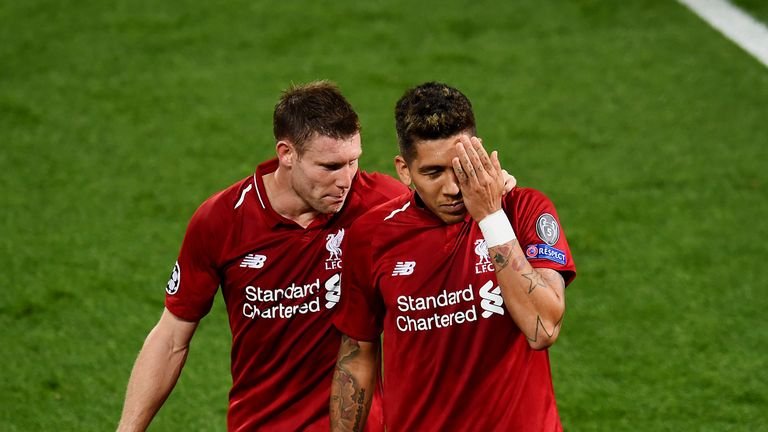 Roberto Firmino celebrated his winner against PSG by covering the eye which was injured against Tottenham