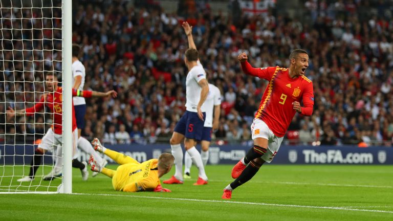 Rodrigo scored the winning goal against England at Wembley