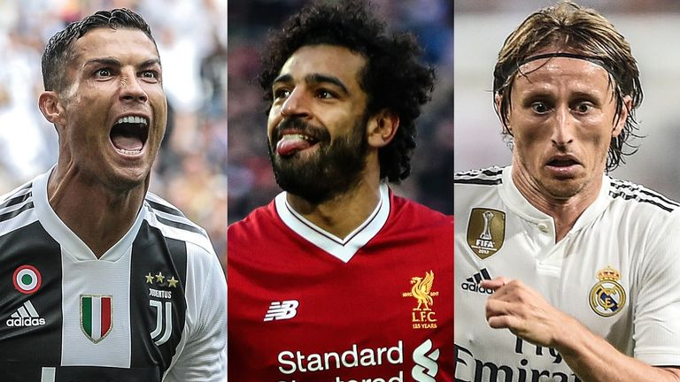 Ronaldo will compete with Mohamed Salah and Luka Modric for the top FIFA award