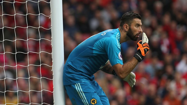 Rui Patricio impressed for Wolves in goal against Manchester United