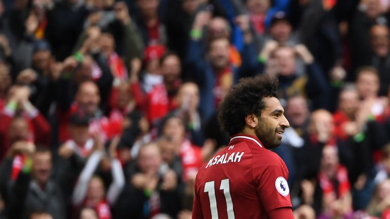 Mohamed Salah was back on form for Liverpool at Anfield