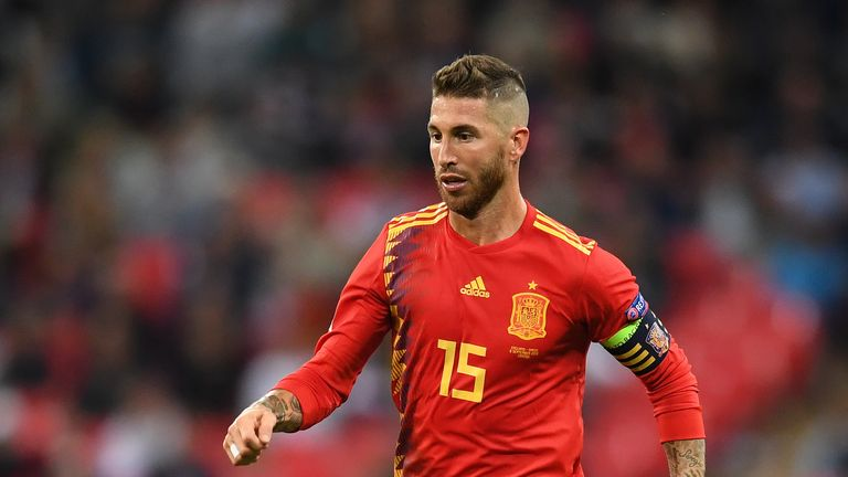 Sergio Ramos featured for Spain against England on Saturday