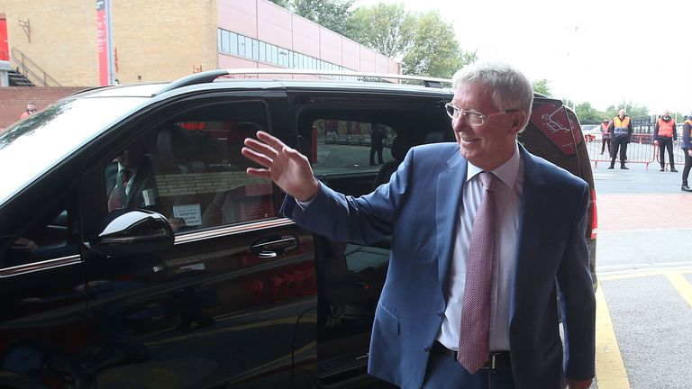 Sir Alex arrives at Old Trafford