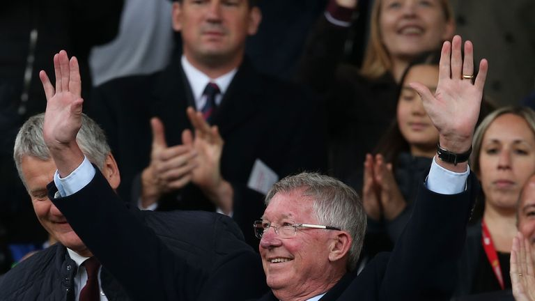 Sir Alex received a warm reception from the United fans