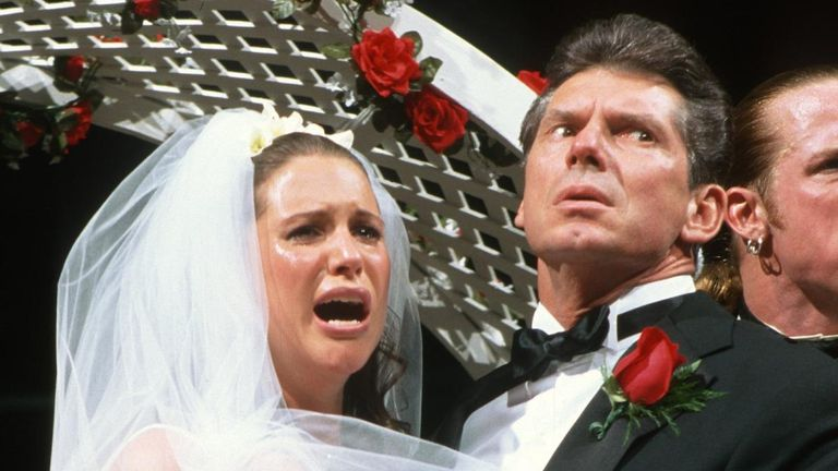 Stephanie McMahon as involved in a memorable Raw storyline in which she was married to Triple H against her will