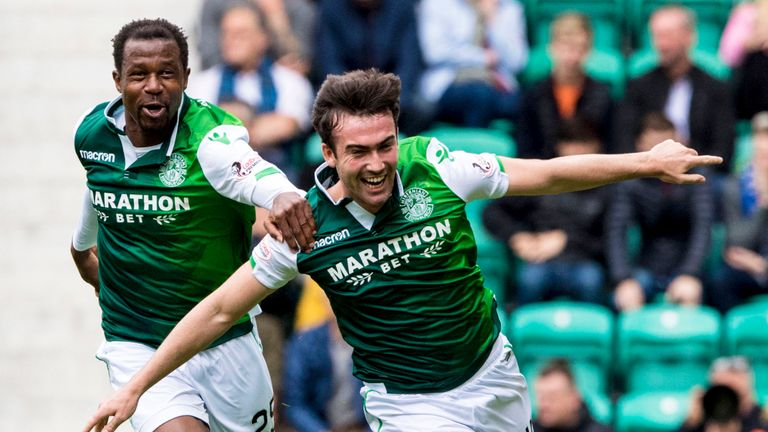 Stephen Mallan has scored three goals in eight domestic appearances for Hibs this campaign.