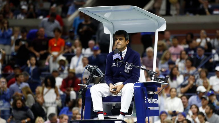 U.S. Open chair umpire says he is 'fine' after Serena controversy