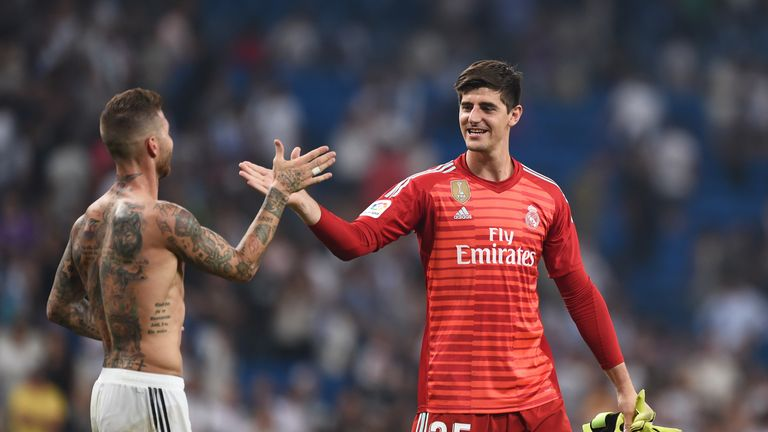 Courtois made his Real Madrid debut against Leganes