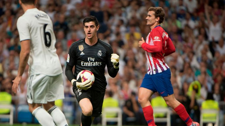 Courtois is now Real's No 1 in all competitions