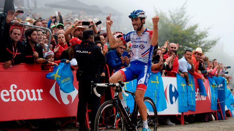 France's Thibaut Pinot won Sunday's 178.2km stage