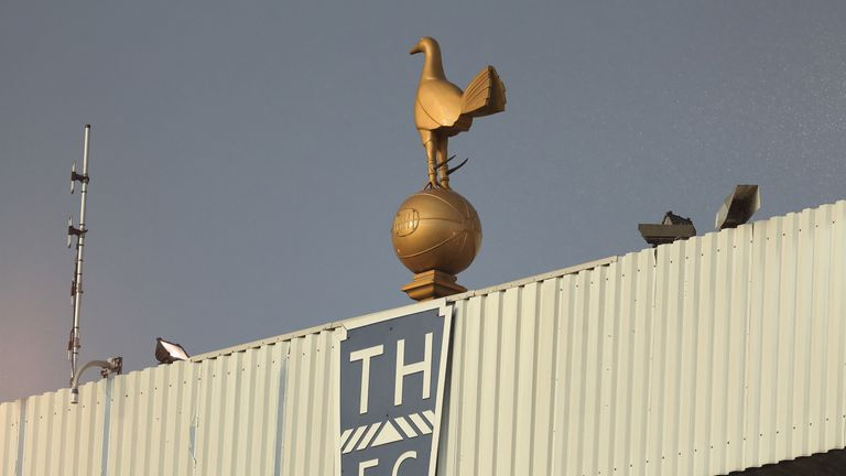 One of the golden cockerels on top of White Hart Lane