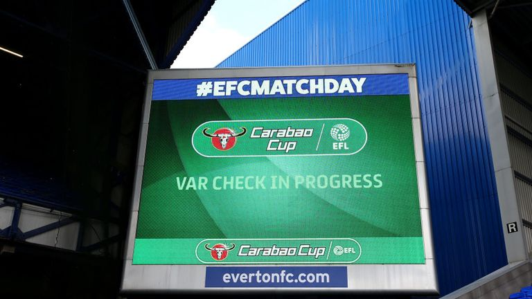 VAR has been used at recent EFL Cup games in England
