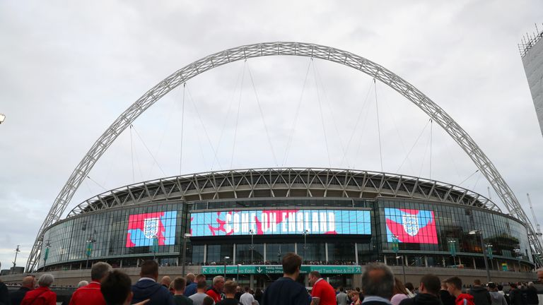 Wembley Stadium on September 8 before the Nations League match between England and Spain