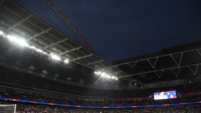 Wembley floodlights do not meet UEFA, FIFA and Premier League requirements
