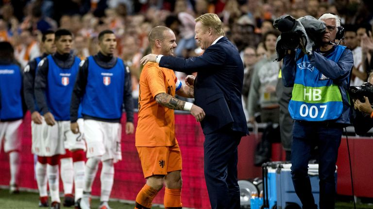 Wesley Sneijder made his 134th and final appearance for the Netherlands