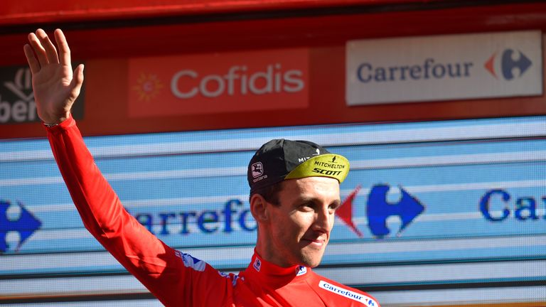Simon Yates kept hold of his Vuelta a Espana lead after stage 18